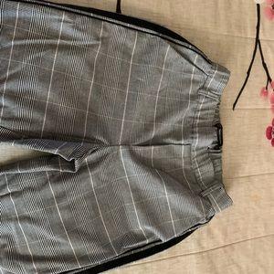Dressy plaid crop pants